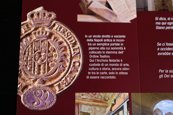 Immagine di Pieghevole Archivio Notarile di Napoli