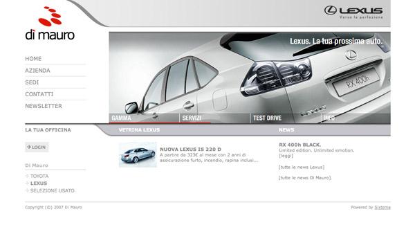Homepage Lexus.